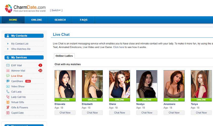 Datingwifes: CharmDate main page, dating Slavic women